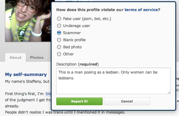 Okcupid lesbian