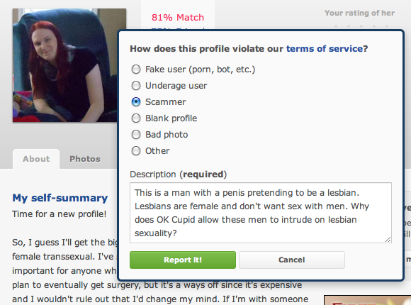 Dear OK Cupid | Pretendbians: Exactly Like Lesbians, Except Not